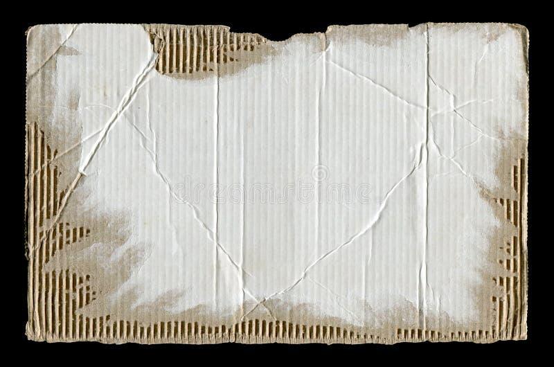 Biały drzejący panwiowy karton fotografia royalty free