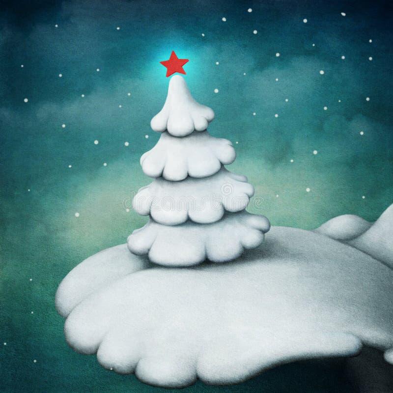 Biały drzewo ilustracji
