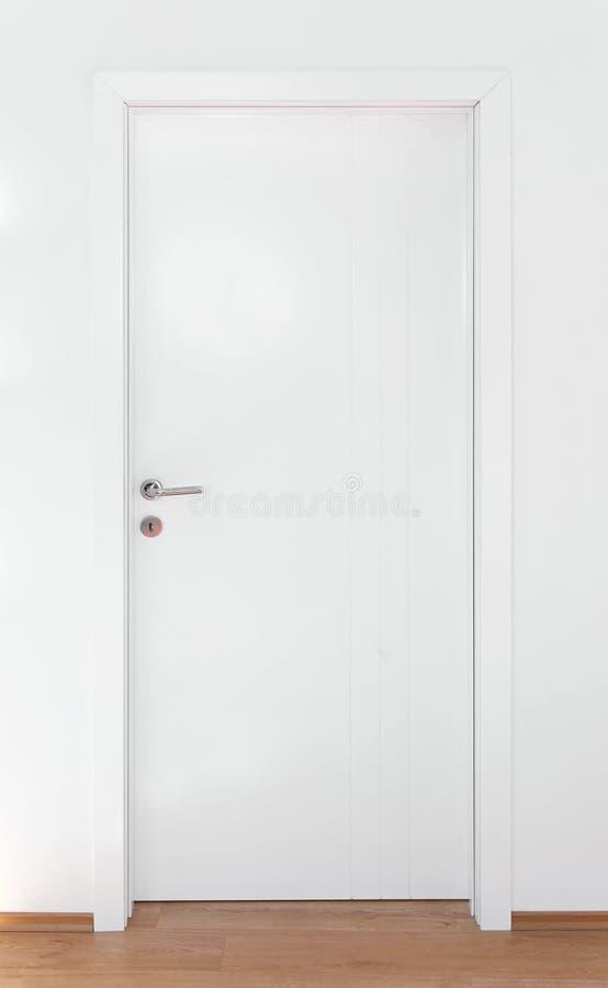Biały drzwi obraz stock