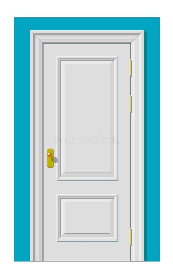 Biały drzwi royalty ilustracja