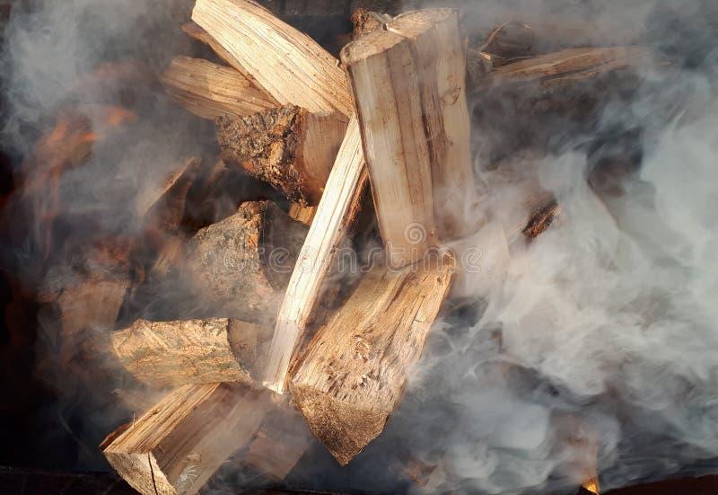Biały dym ogień zdjęcie royalty free
