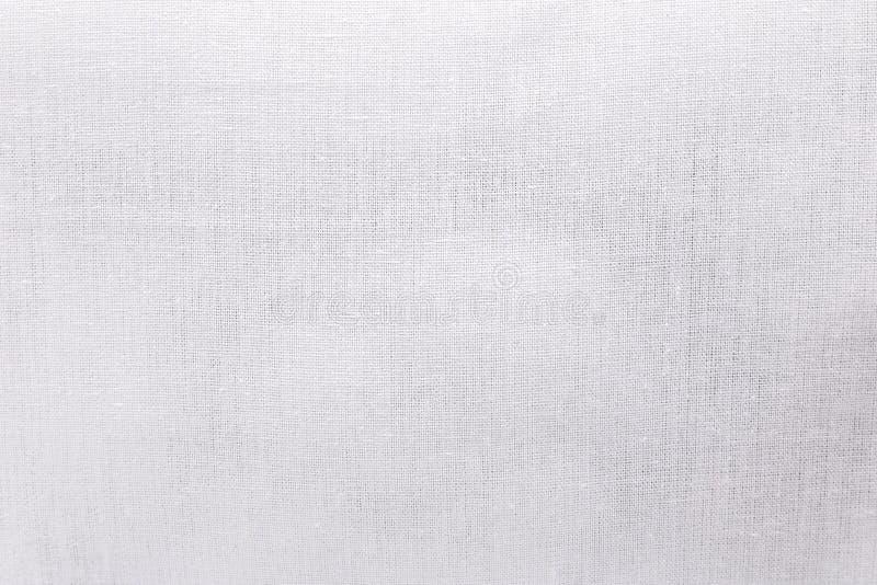 Biały ekologii tkaniny tekstury tło Pusty brezentowy tekstylnego materiału lub perkalu płótno obrazy stock