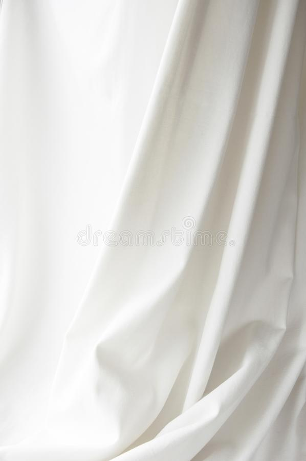 Biały elegancki brezentowy sukienny tekstury draperii tło obrazy royalty free