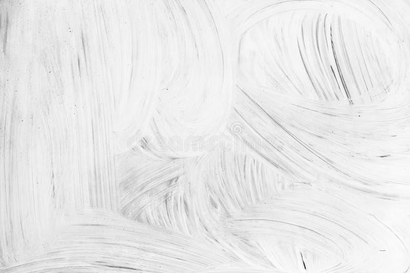 Biały farba wzór nad pustą ścianą fotografia stock