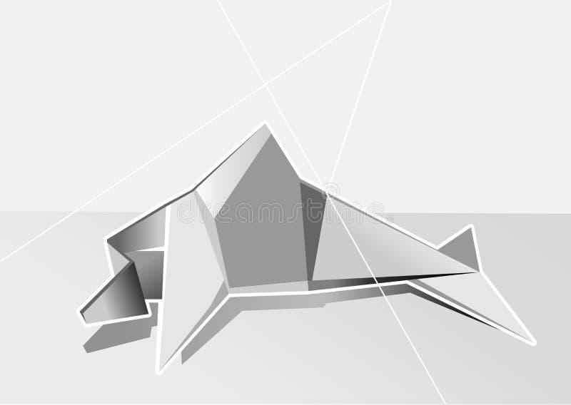 Biały geometrical delfin royalty ilustracja