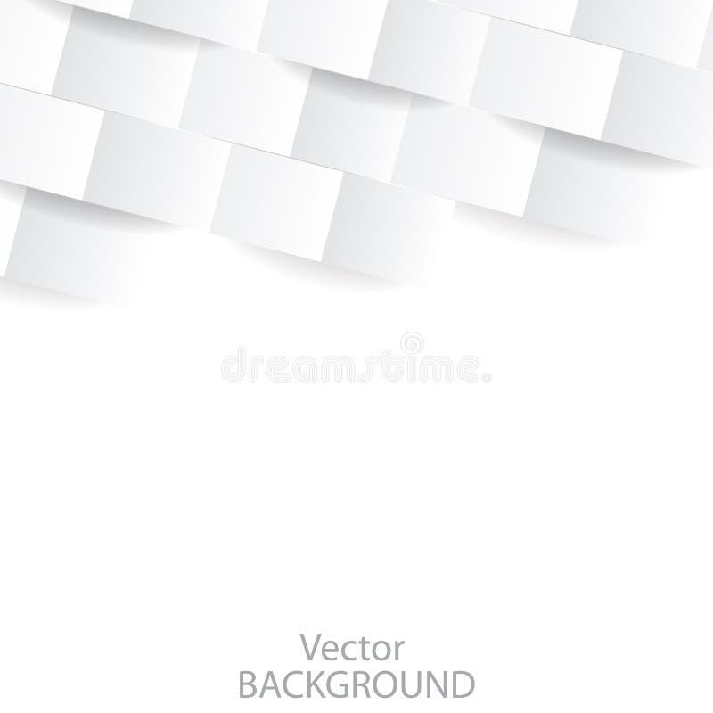 Biały geometryczny nowożytny tło Perspektywiczna tekstura dla okładkowego projekta, strony internetowej tło, reklamuje wektor ilustracja wektor
