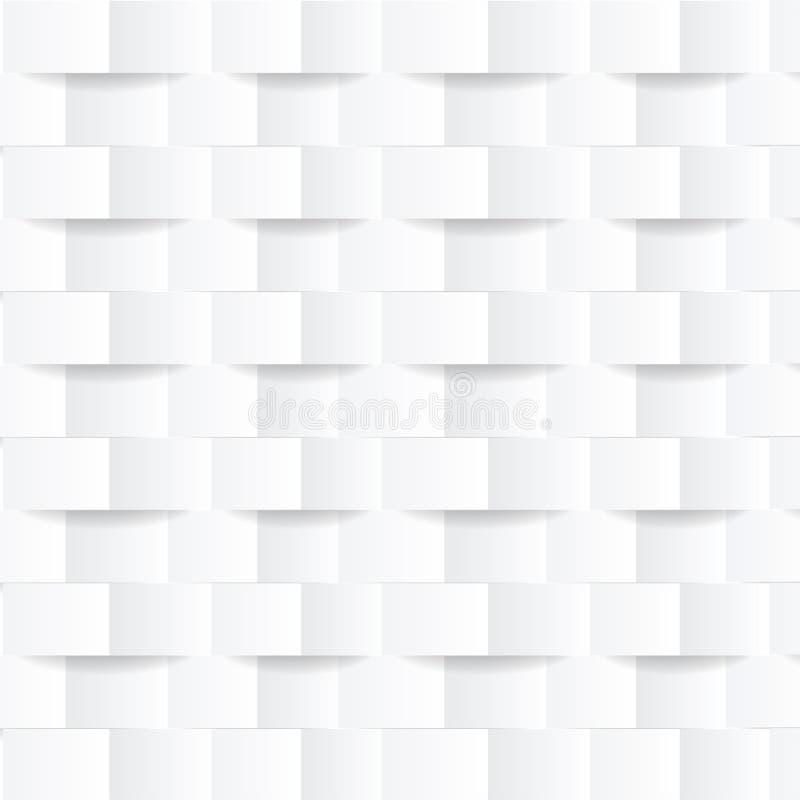 Biały geometryczny nowożytny tło Tekstura dla okładkowego projekta, strony internetowej tło, reklamuje wektor ilustracji