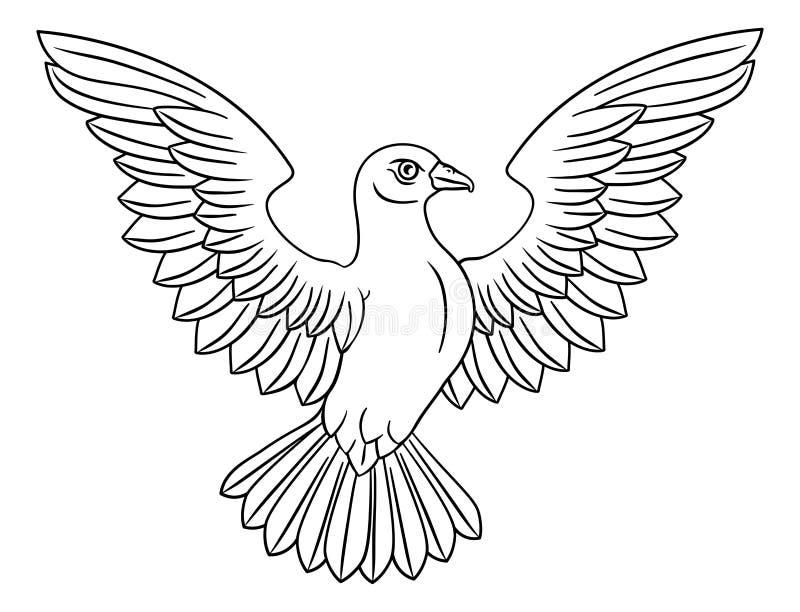 Biały gołąbki pojęcie ilustracja wektor