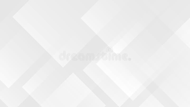 Biały gradientowy abstrakcjonistyczny wielobok linii wzór na szarym tle ilustracji