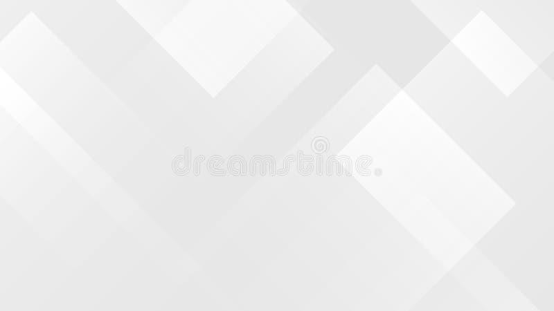 Biały gradientowy abstrakcjonistyczny wielobok linii wzór na szarym tle ilustracja wektor