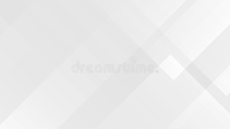 Biały gradientowy abstrakcjonistyczny wielobok linii wzór na szarym tle royalty ilustracja