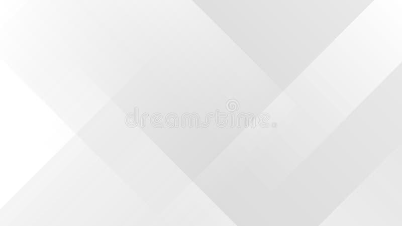Biały gradientowy abstrakcjonistyczny wielobok linii wzór na szarym tle zdjęcie stock