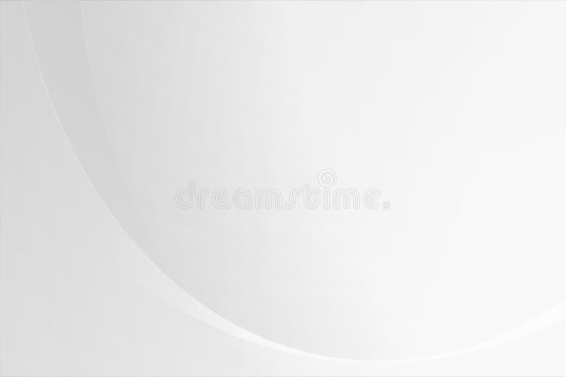 Biały gradientowy abstrakt krzywy wzór na szarym tle royalty ilustracja