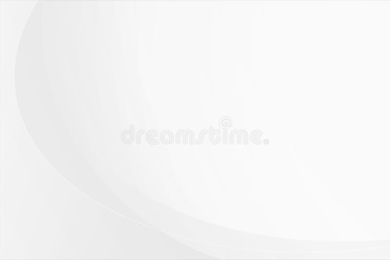 Biały gradientowy abstrakt krzywy wzór na szarym tle ilustracji