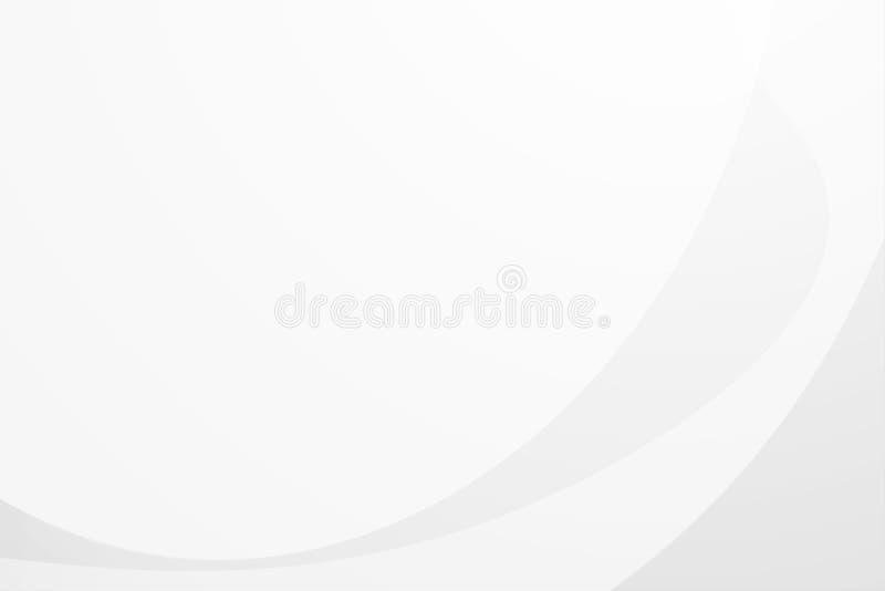 Biały gradientowy abstrakt krzywy wzór na szarym tle ilustracja wektor
