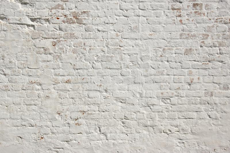 Biały grunge ściana z cegieł tło zdjęcia stock