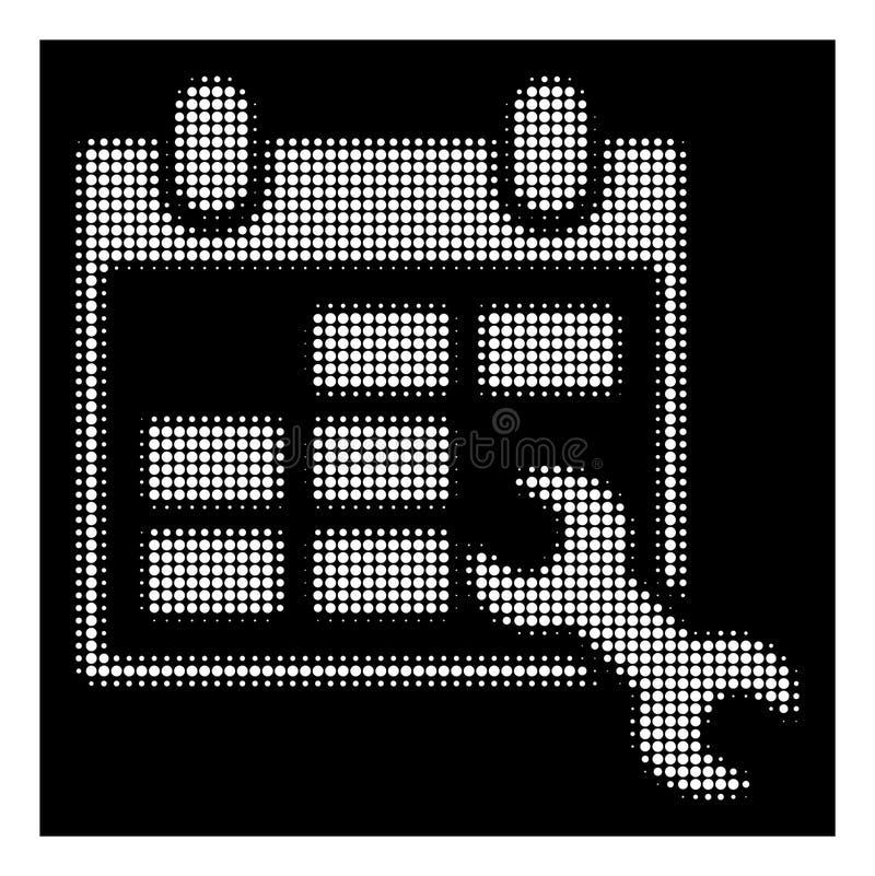 Biały Halftone Konfiguruje rozkład zajęć ikonę royalty ilustracja