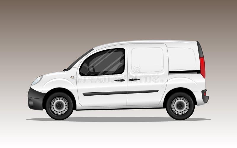 Biały handlowy pojazd royalty ilustracja