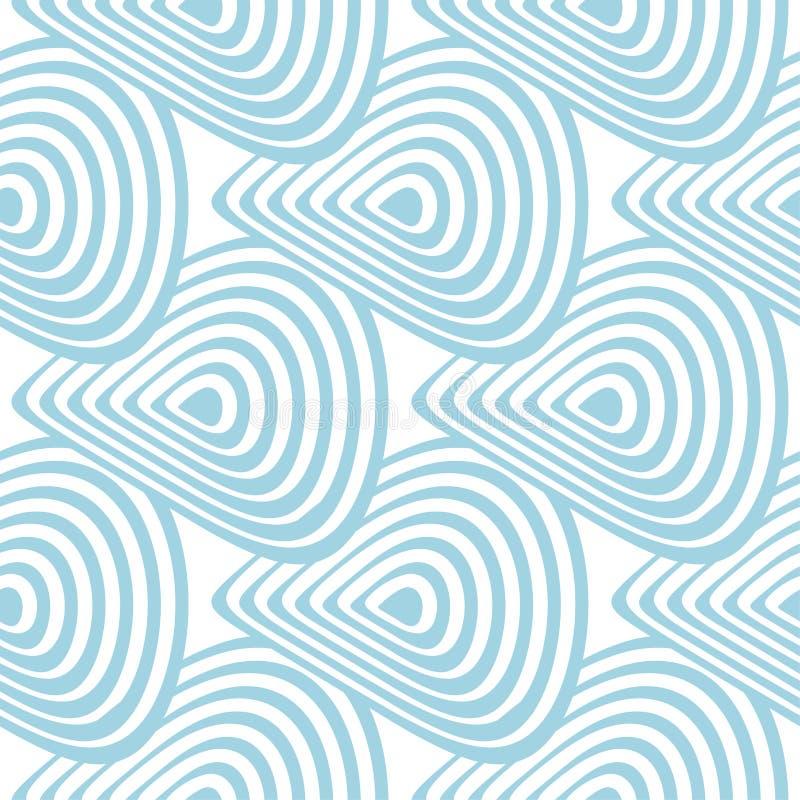 Biały i błękitny geometryczny ornament bezszwowy wzoru ilustracji