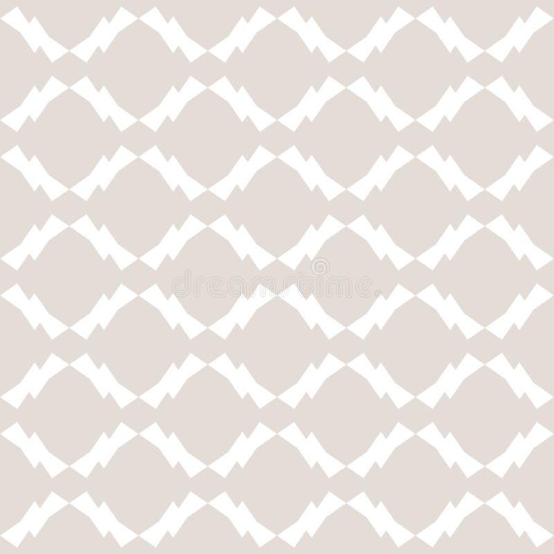 Biały i beżowy geometryczny bezszwowy wzór w azjata stylu Luksusowy powtórka ornamentu projekt ilustracja wektor