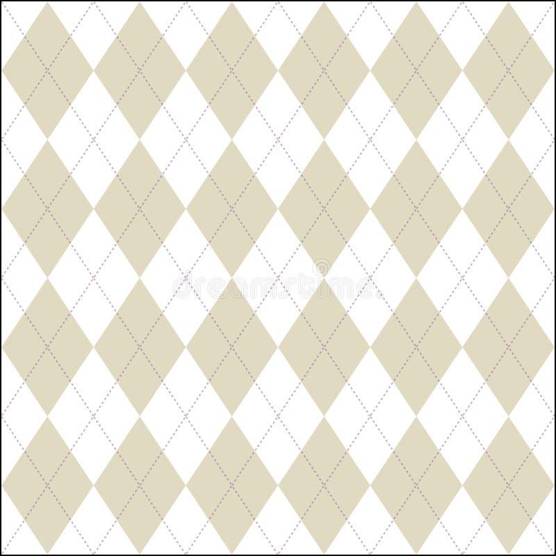 Biały i fałszywy barwiony argyle patern ilustracji