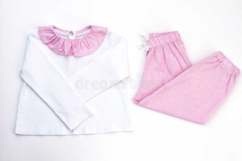 Biały i różowy piżama set obraz royalty free