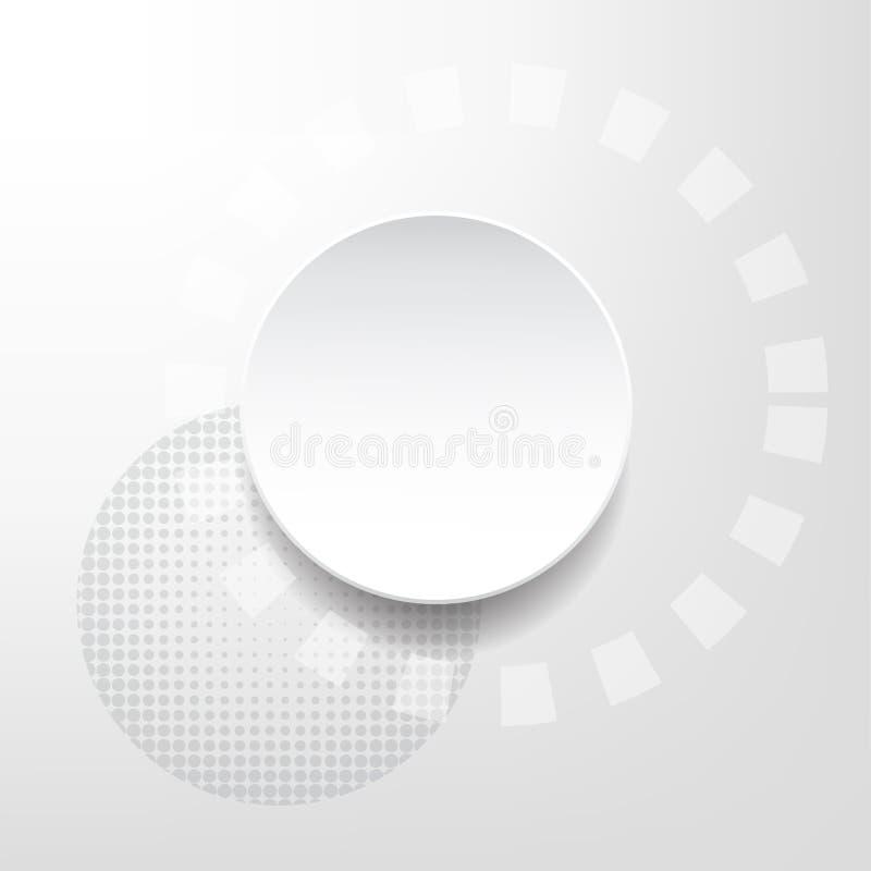 Biały i srebny abstrakcjonistyczny technologii sci fi pojęcia wektoru backg ilustracja wektor