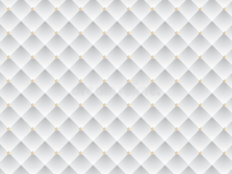 Biały i Złocisty Elegancki tekstury tło Wektorowa EPS ilustracja fotografia stock