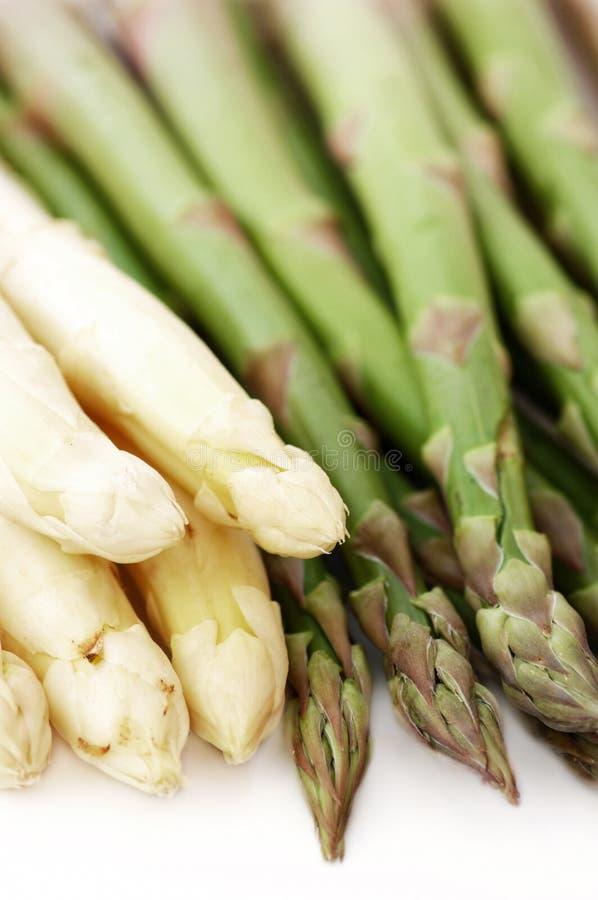 Biały I Zielony asparagus zdjęcie stock