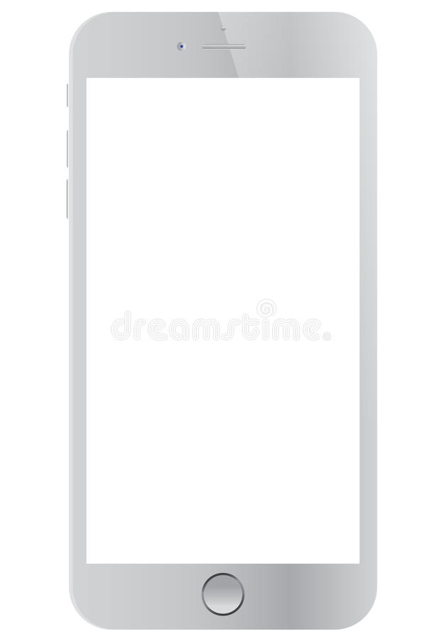 Biały Jabłczany iPhone 6 obrazy stock
