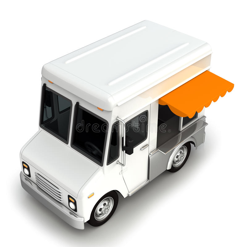 Biały jedzenie ciężarówki wierzchołek ilustracji
