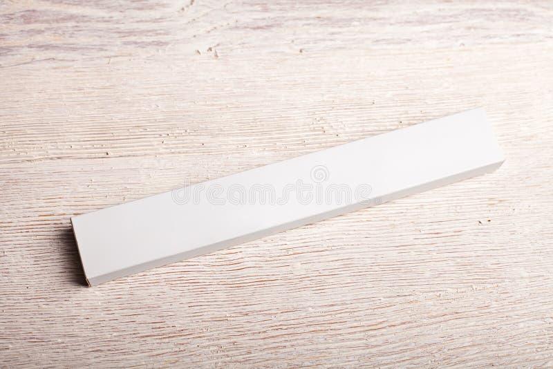 Biały karmowy przekąska baru pakunku mockup obraz stock