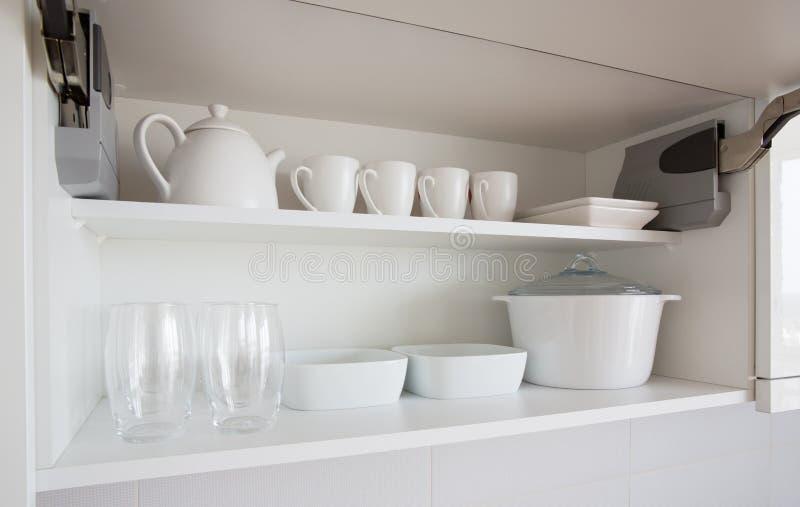 Biały kitchenware obrazy royalty free