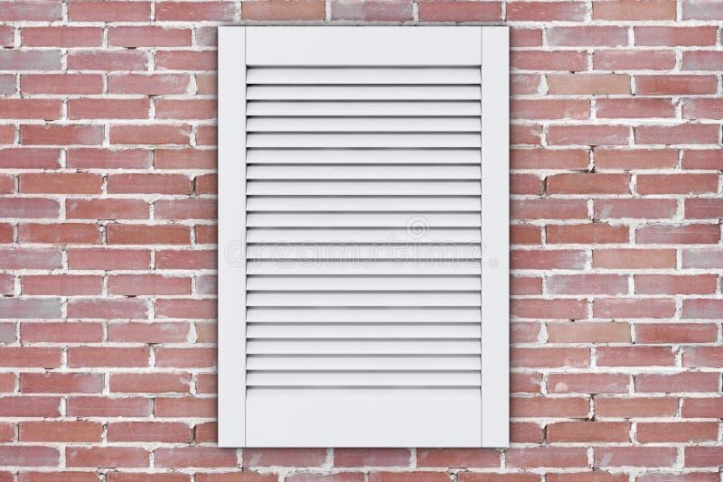 Biały klingerytu powietrza wentylaci Grille okno świadczenia 3 d ilustracji