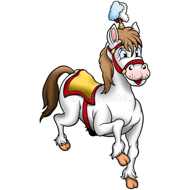 biały koń cyrkowy ilustracja wektor