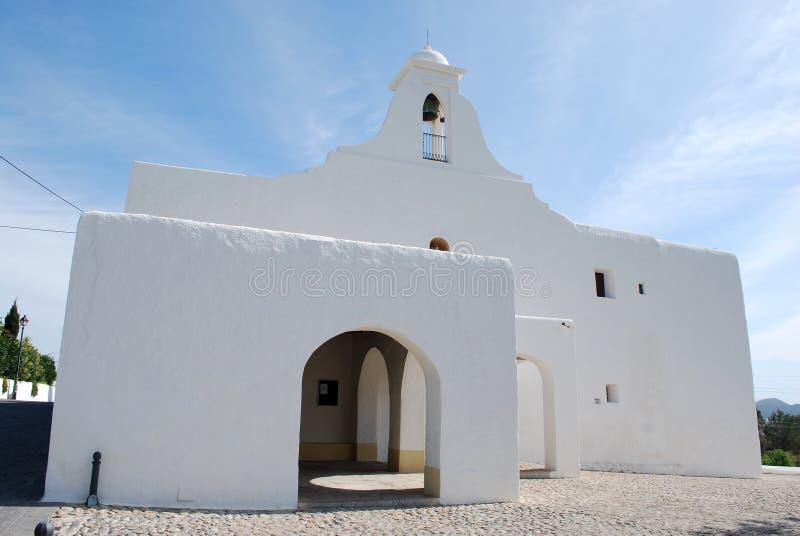 Biały kościół w Ibiza zdjęcie royalty free