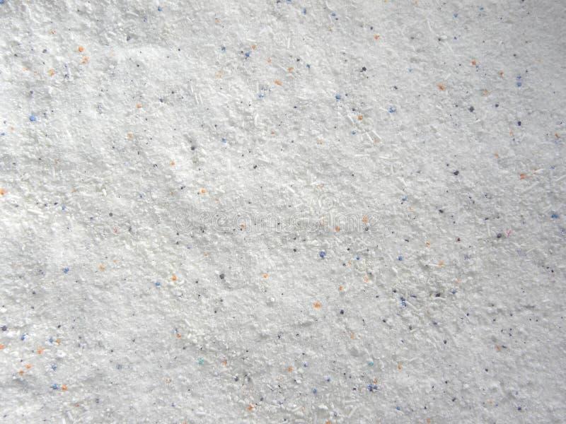 Biały koloru pralnianego detergentu płuczkowy proszek obraz royalty free