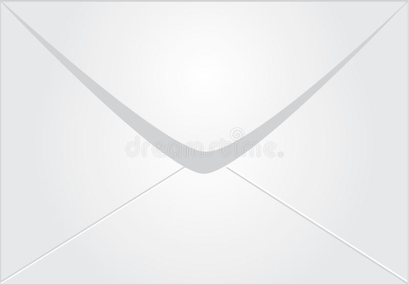 Biały koperta royalty ilustracja