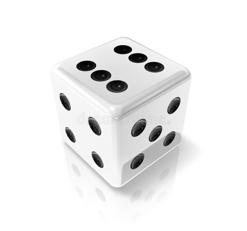 biały kostka do gry wygrana ilustracji