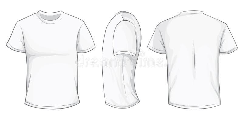 Biały Koszulowy szablon royalty ilustracja