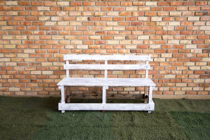 Biały krzesło zdjęcie stock
