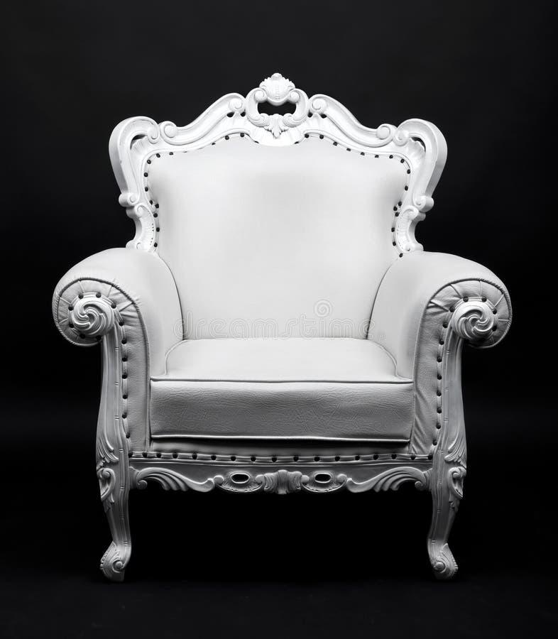 Biały krzesło
