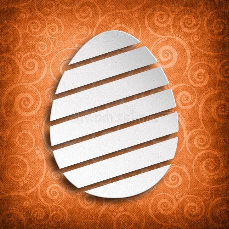 Biały kształt Wielkanocny jajko royalty ilustracja