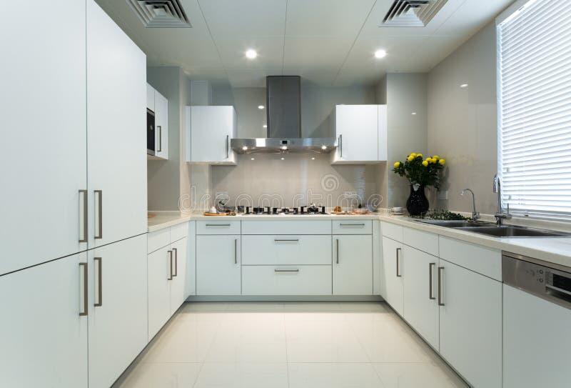 Biały kuchnia zdjęcie stock