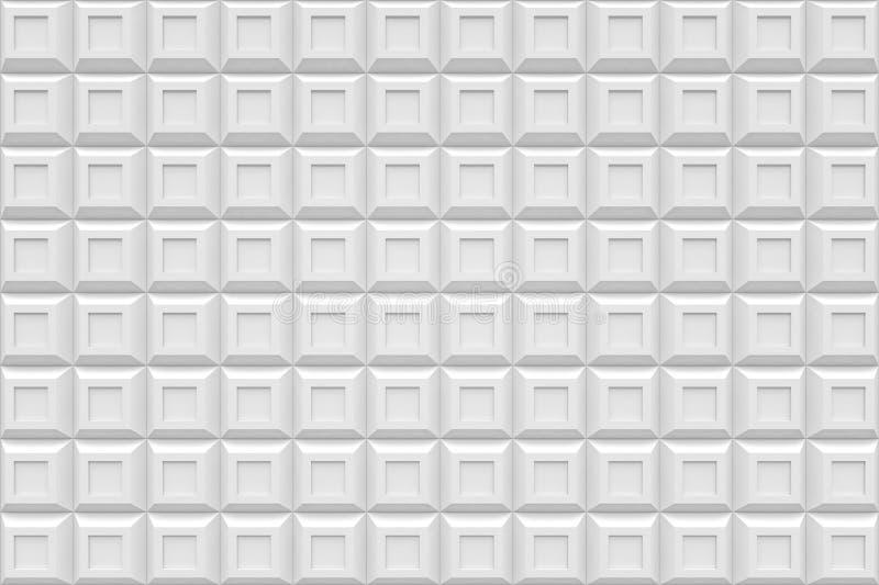 Biały kwadratowego pudełka technologii nowożytnego czerni abstrakcjonistyczny 3d backgroun ilustracji