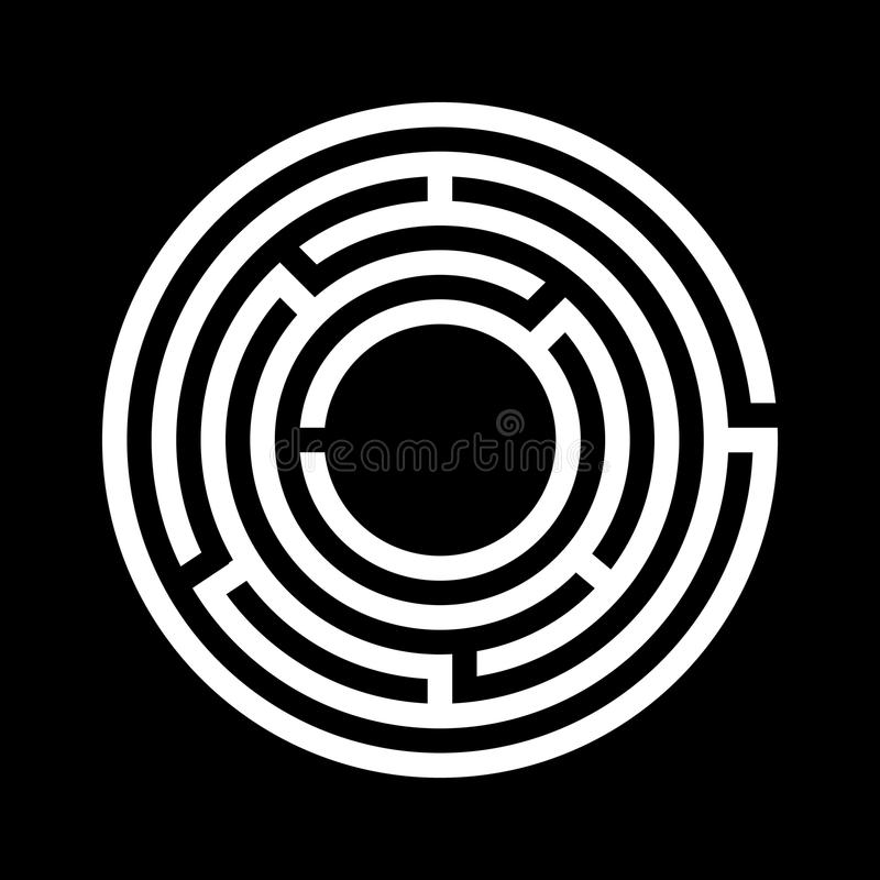 Biały labiryntu symbol ilustracja wektor