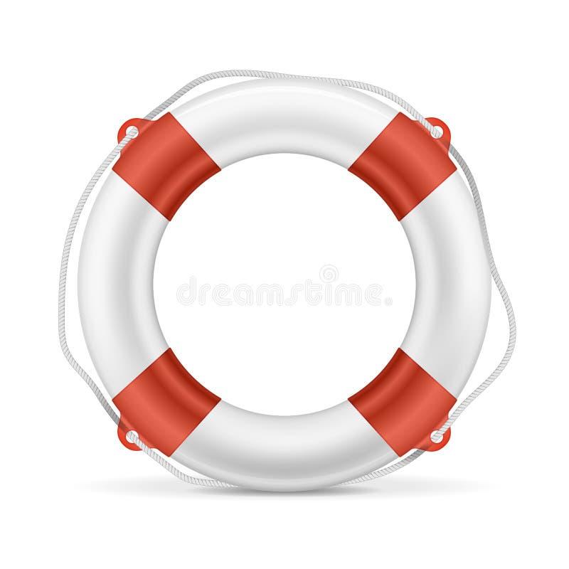 Biały Lifebuoy royalty ilustracja