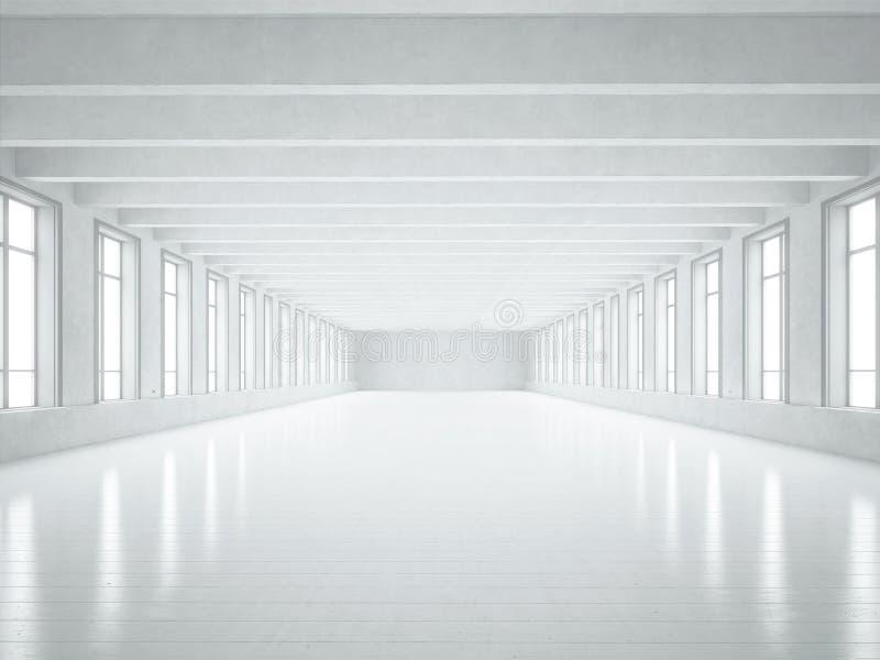 Biały loft wnętrze fotografia stock
