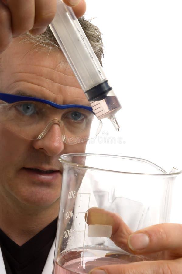 biały mężczyzna kołnierza naukowej pracownika, zdjęcie royalty free