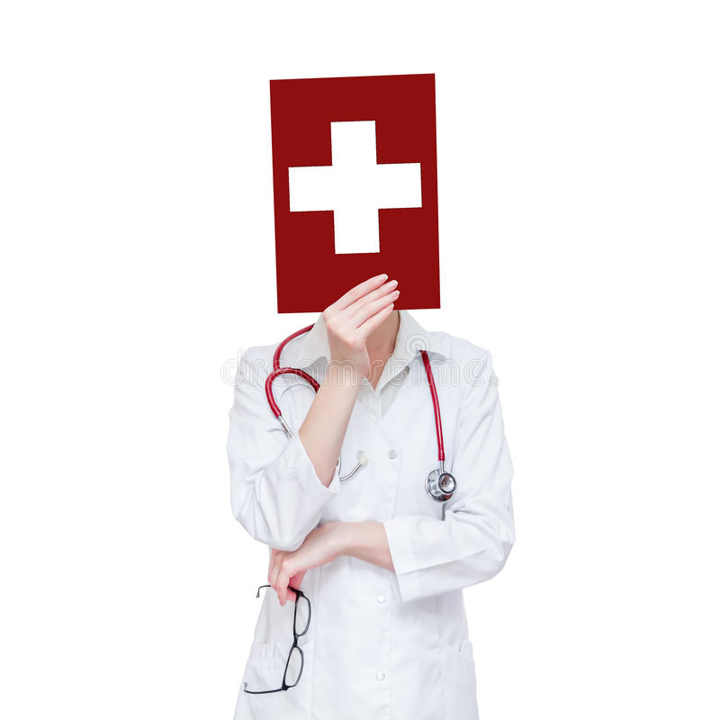 Download Biały medyczny krzyż zdjęcie stock. Obraz złożonej z ręka - 28958670